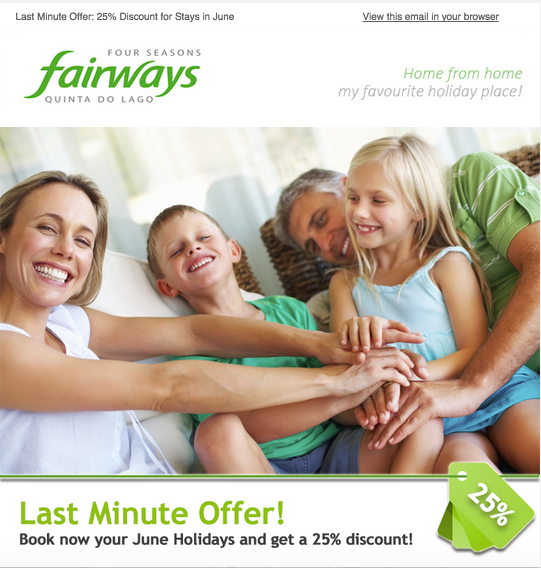 Four Seasons Fairways Email Marketing